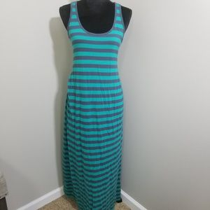 GAP Maternity Striped Maxi Dress SZ M